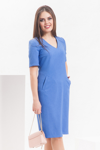 Платье с V-образным вырезом, П-504